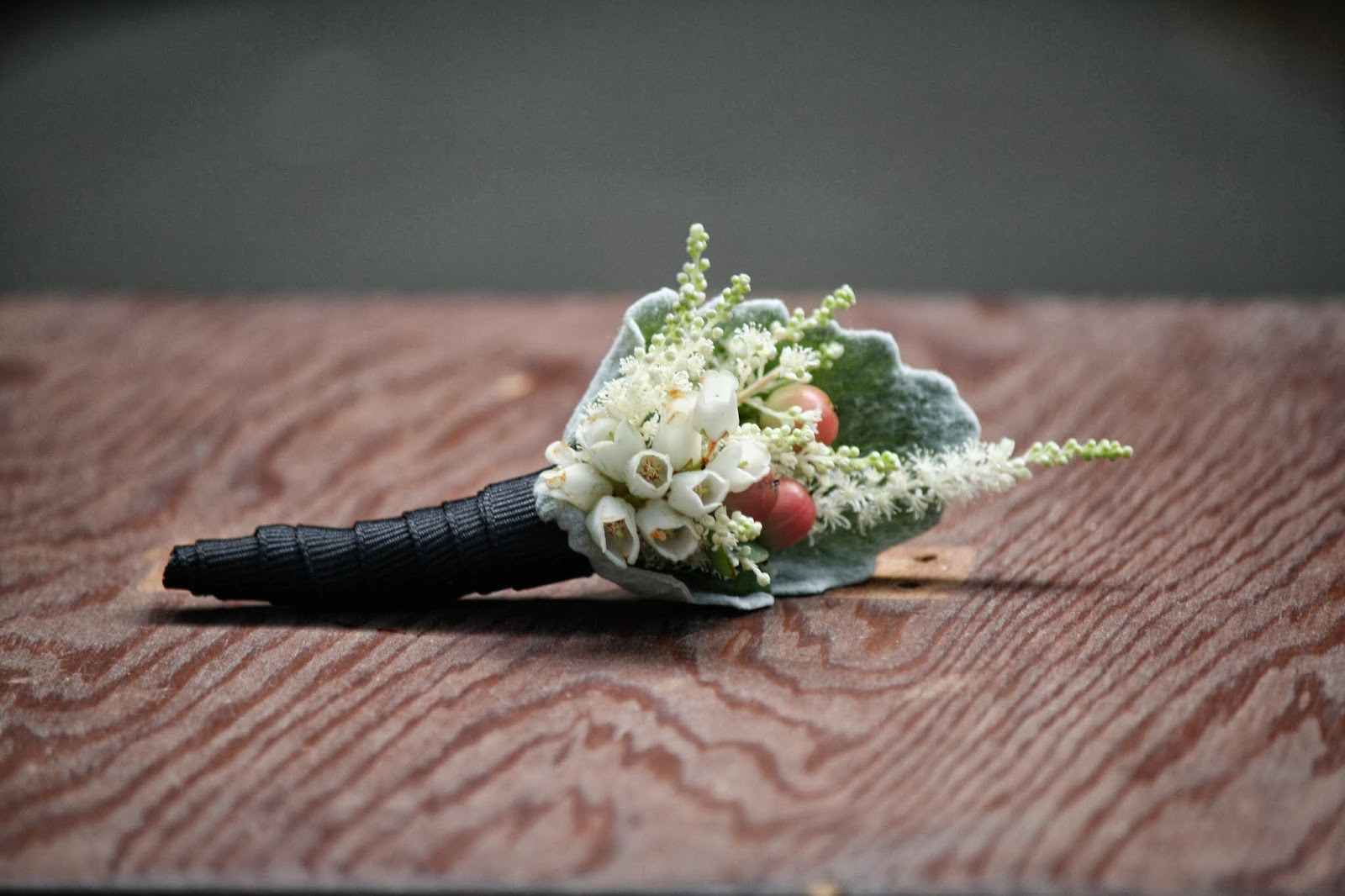 Lily of the Valley Boutonniere - Boutonnieres - Wedding Flowers - Groom - Usher - Best Man - Groomsmen - Ushers - Groom's Boutonniere