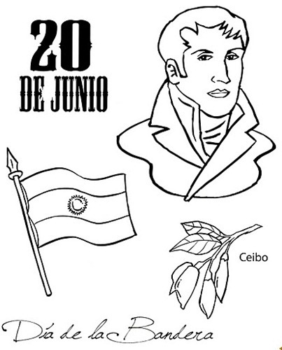 Lujoso Día De La Independencia Para Colorear Composición - Páginas ...