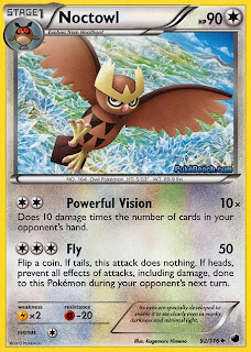 Noctowl Plasma Freeze Pokemon Card