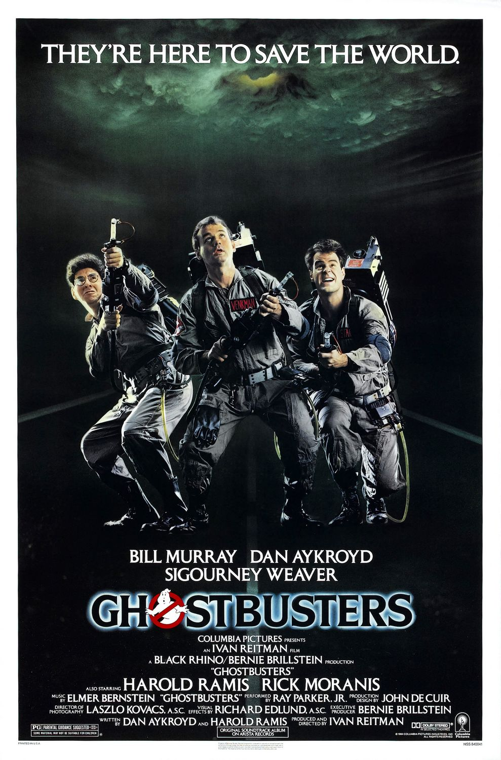 The Geeky Nerfherder Movie Poster Art Ghostbusters 1984