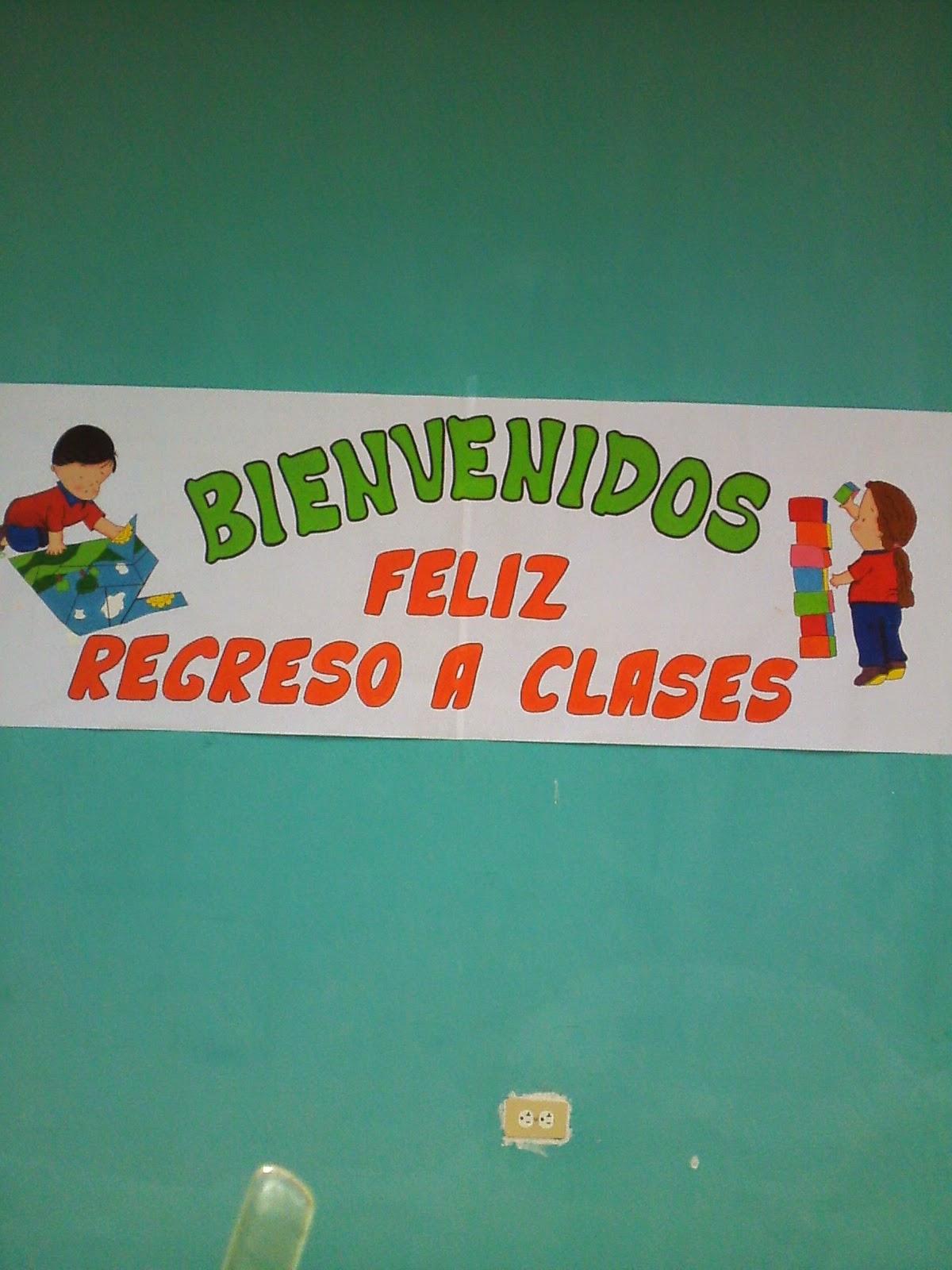Cajitas de sue os pancarta de feliz regreso a clases for Puertas decoradas para regreso a clases