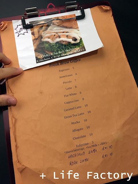 Menu, Piccolo Cafe, Taman Equine, Seri Kembangan