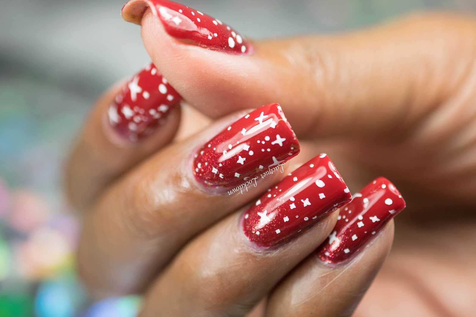 How To how to make snowflake nail art : Lacquer Lockdown: Christmas 2015 Simples: OPI Snowflakes Wrapping ...