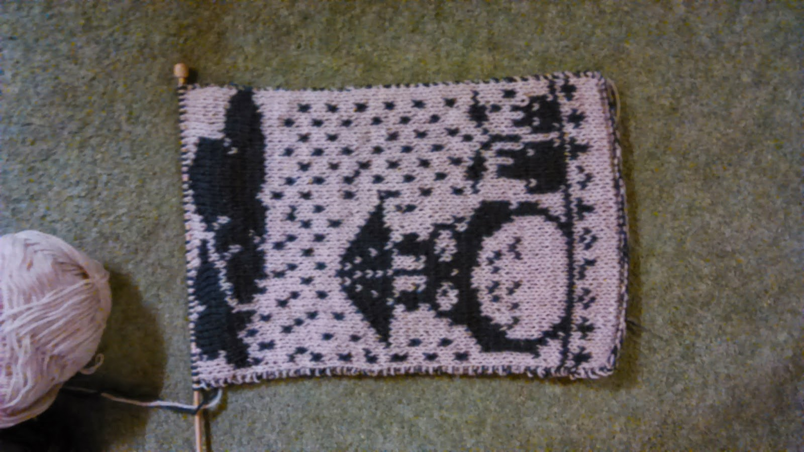 My Adventures in Knitting: Double Knitting Totoro Scarf