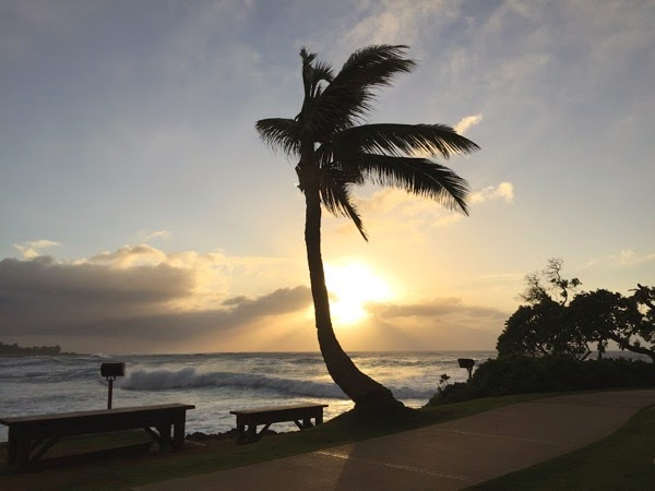 Turtle Bay sunset North Shore Oahu