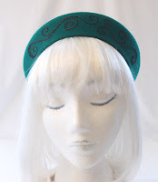 emerald green '40s halo hat