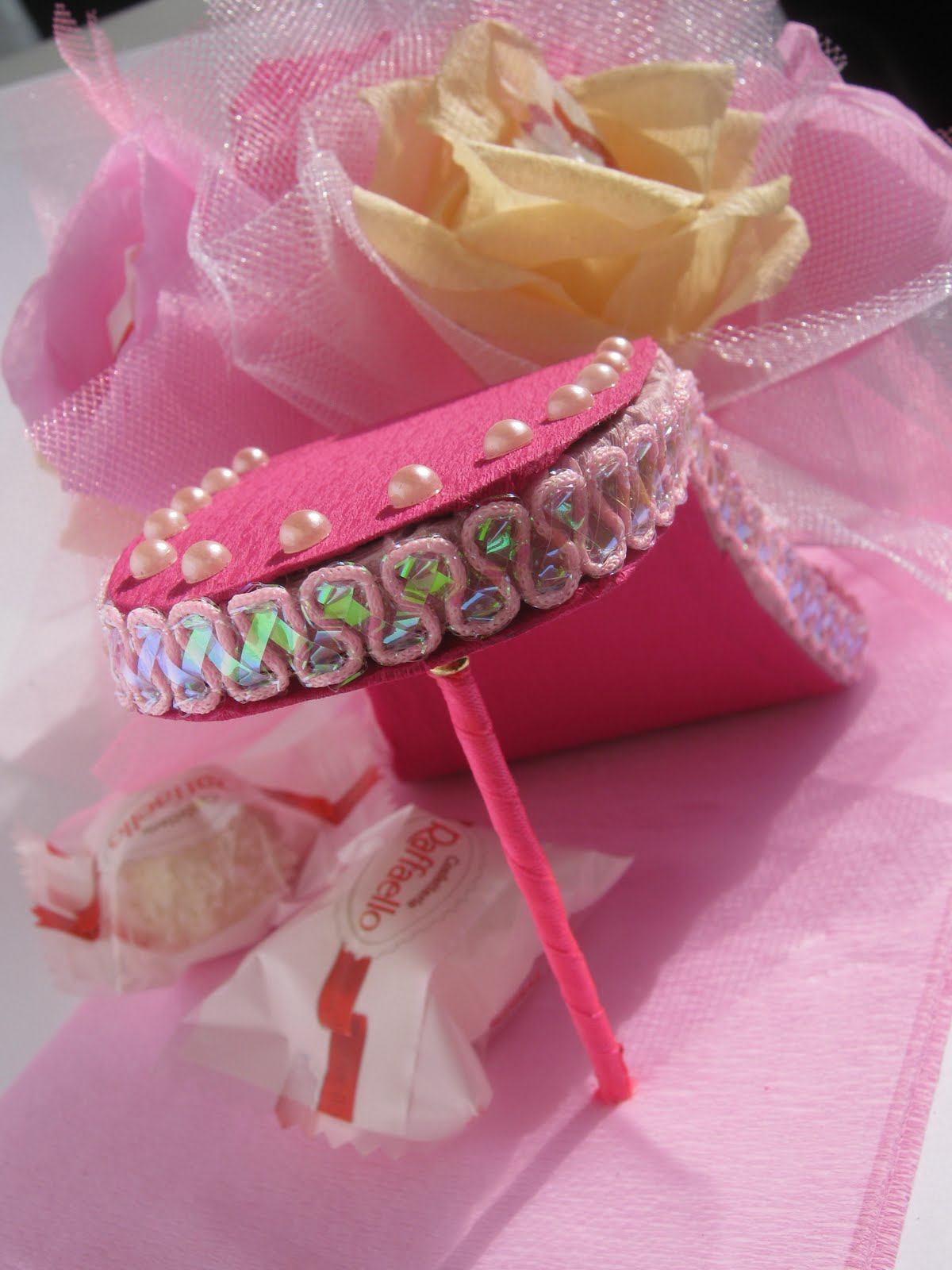 Как сделать туфельку из конфет своими