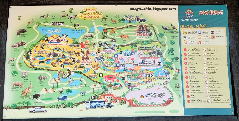 Bangkok safari world map of safari world here is a place where you can spend one whole day here gumiabroncs Gallery
