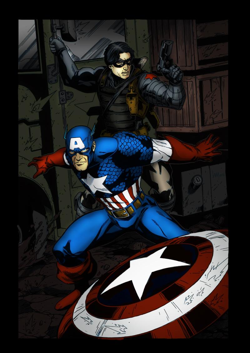 Nuevo coloreado del Capitán América