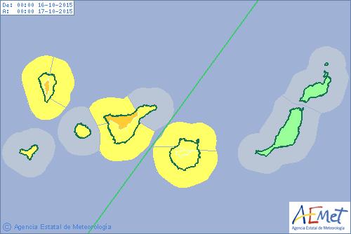 temporal canarias elevan avisos por vientos a naranja La Palma