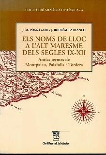 Noms de lloc de l'Alt Maresme