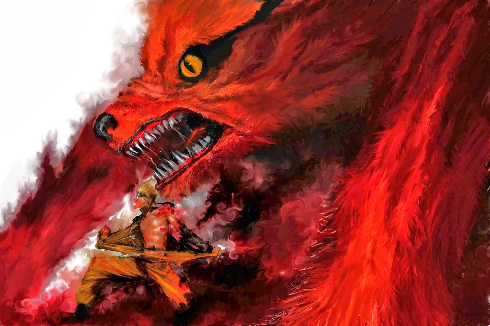 Naruto Uzumaki and Kurama Shippuden Wallpapers Fan art