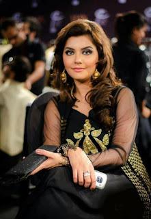 Nida Yasir In Tv Show With Black Dress Nice Looking