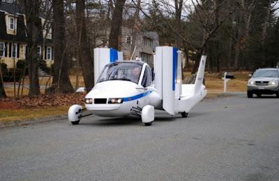fotos de transition el auto volador en el auto show de nueva york