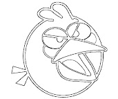 #8 Angry Birds Coloring Page