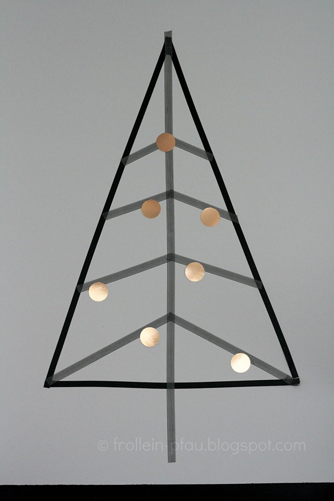 frollein pfau diy masking tape weihnachtsbaum creadienstag. Black Bedroom Furniture Sets. Home Design Ideas