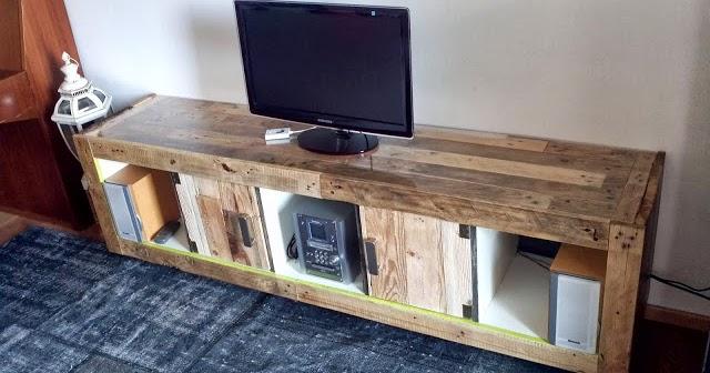 Mueble para tv realizado con una - Modificar muebles ikea ...