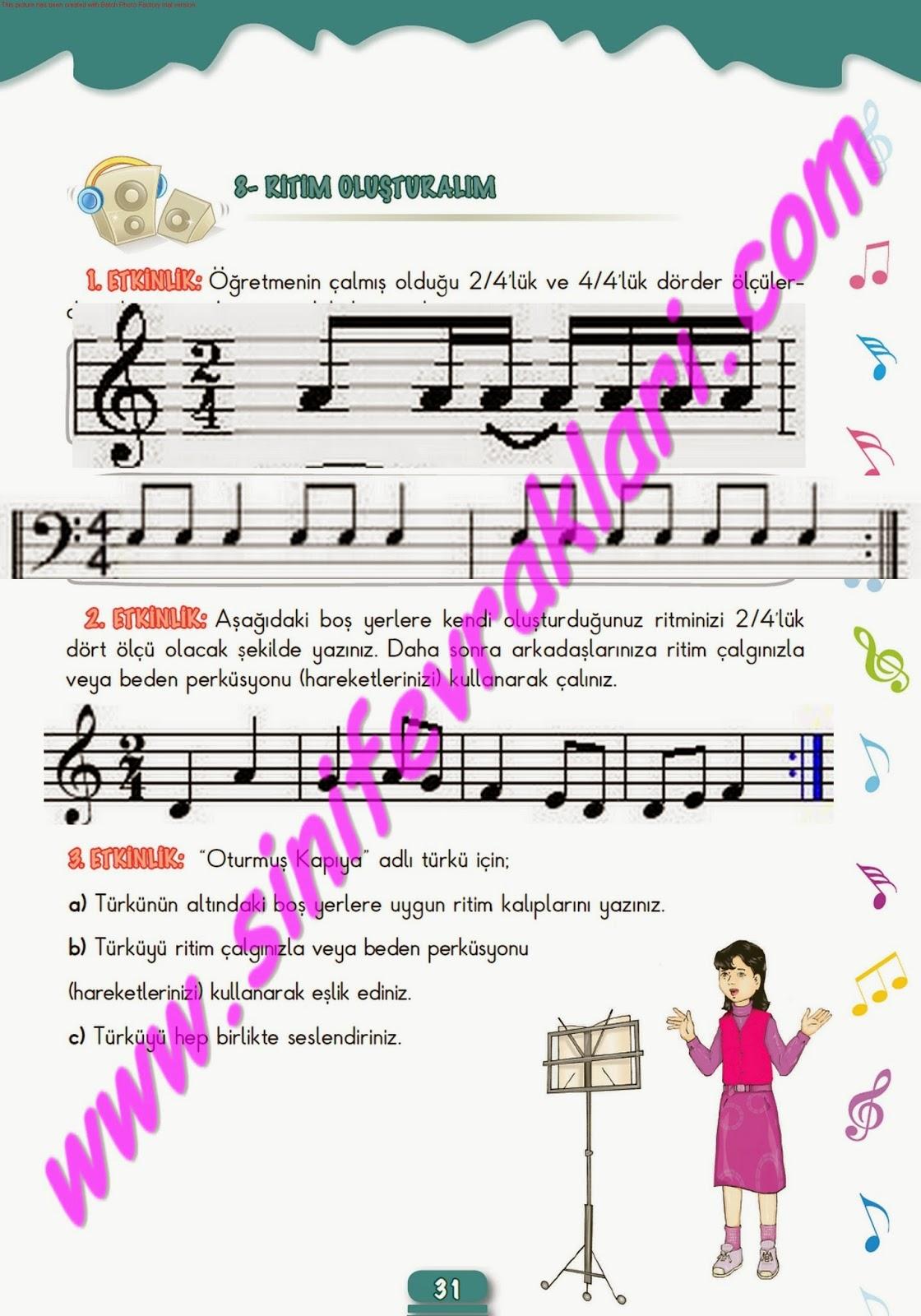 Yanıtsız Hiç Bir Soru Kalmayacak 5sınıf Müzik çalışma Kitabı