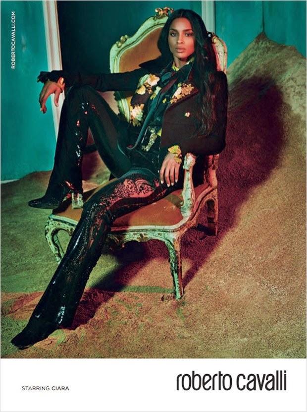 Roberto Cavalli Fall/Winter 2015/16 Campaign starring Ciara