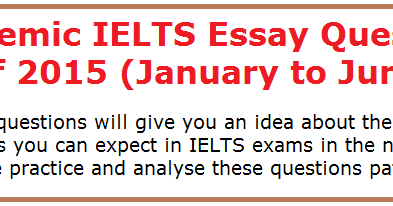 Ielts With George Andrews Darsana Ielts Academy  Home Academic  Ielts With George Andrews Darsana Ielts Academy  Home Academic Ielts  Essay Questions Of  January To June Thesis Statement Examples For Narrative Essays also Public Health Essay  Buy Essay Papers Online
