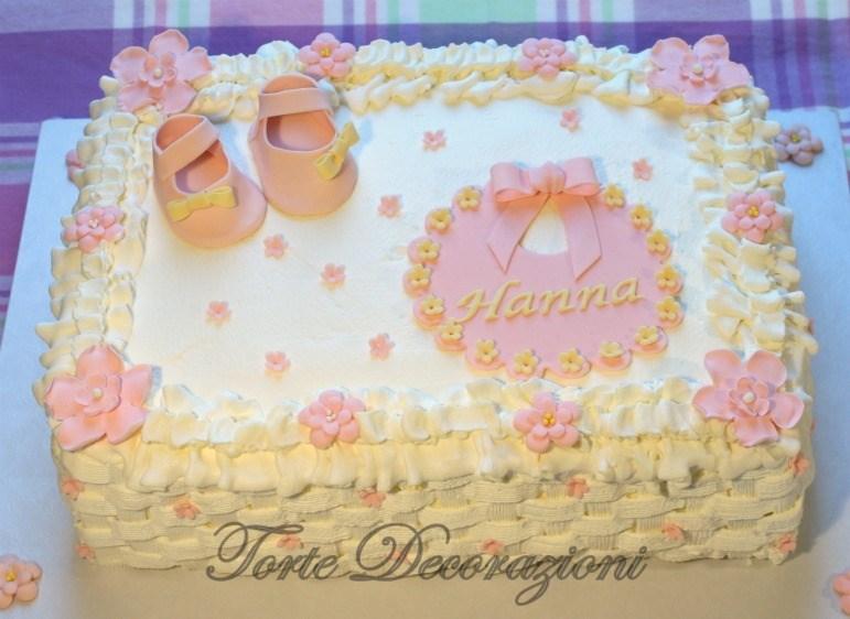 Torte e decorazioni torta battesimo bimba alla panna - Decorazioni per battesimo bimba ...