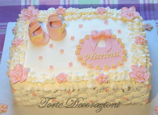 Amato Torte e Decorazioni: Torta battesimo bimba alla panna GQ03