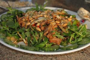 Sea snails, peanuts, chilli & vegetables