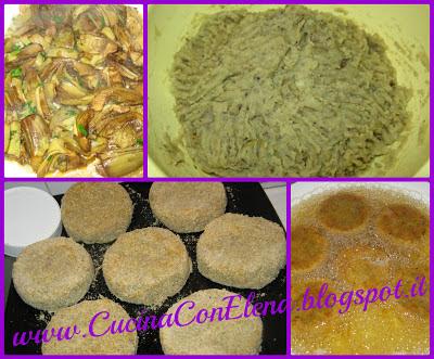 medaglioni di patate e carciofi