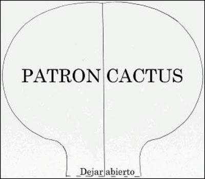 Cactus de tecido com PAP (DIY) e molde