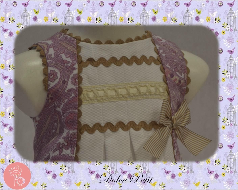 Dolce Petit: Colección primavera-verano2014-Detalle vestido violeta