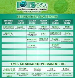 AGENDA SEMANAL ECON DE 05 Á 10 DE DEZEMBRO