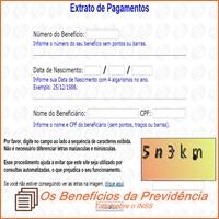 extrato de pagamento, benefícios do INSS
