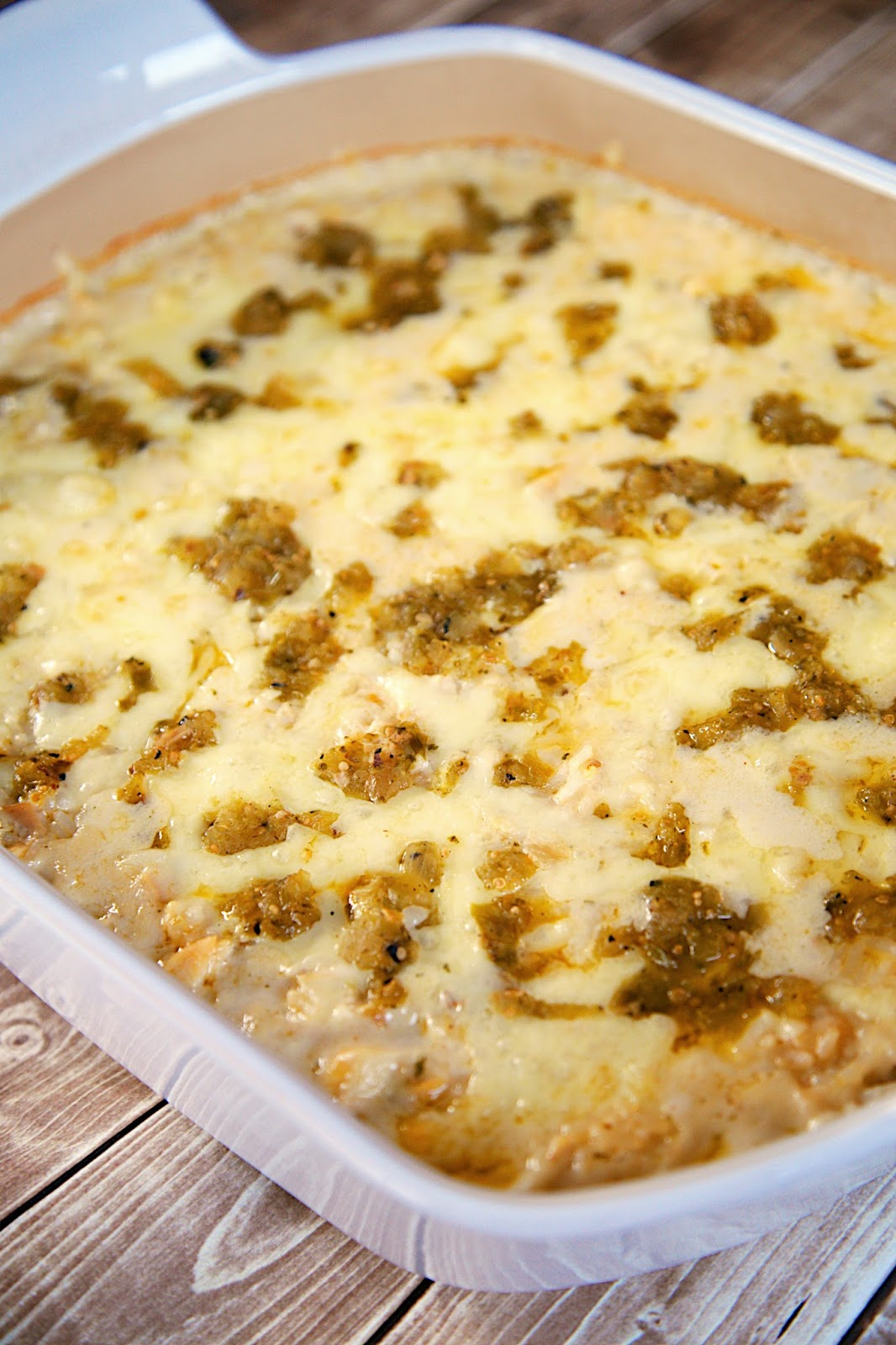 Salsa Verde Chicken and Rice Bake Recipe - chicken, cheese and rice ...
