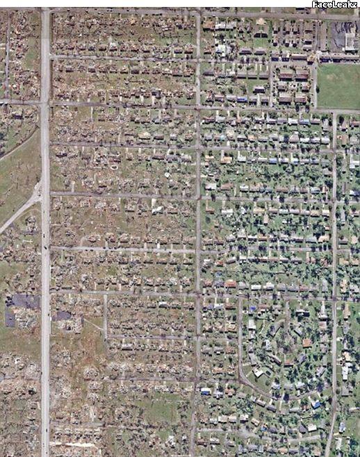 Foto Kota Joplin Rata Dengan Tanah Setelah Dihantam Badai Tornado Mematikan - FaceLeakz