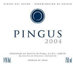 ETIQUETA VINO PINGUS 2004