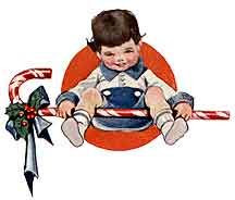 child with a candy cane