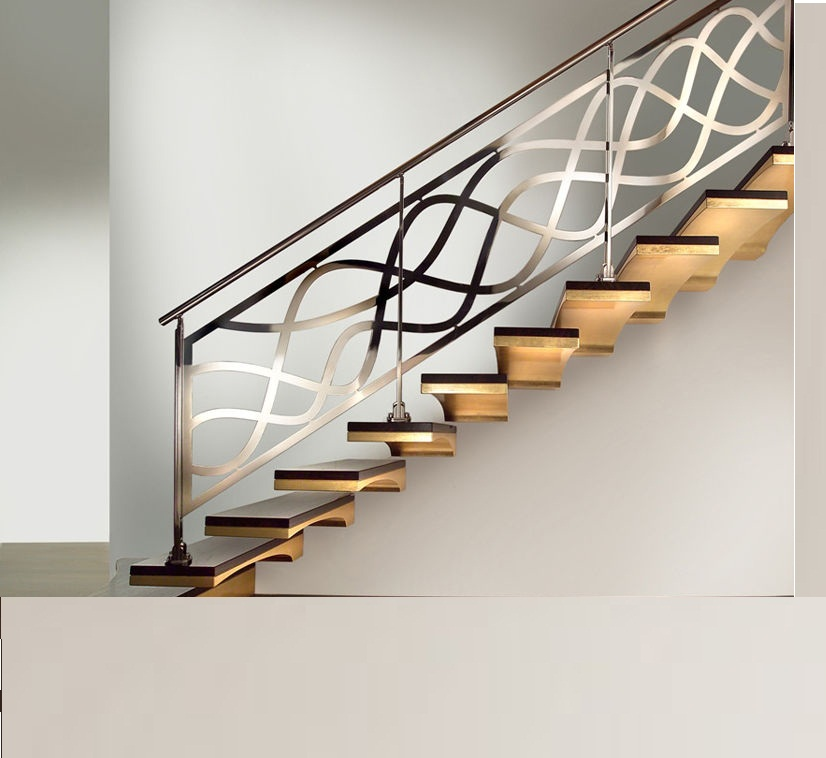 Trends of stair railing ideas and materials interior for Interior staircase designs