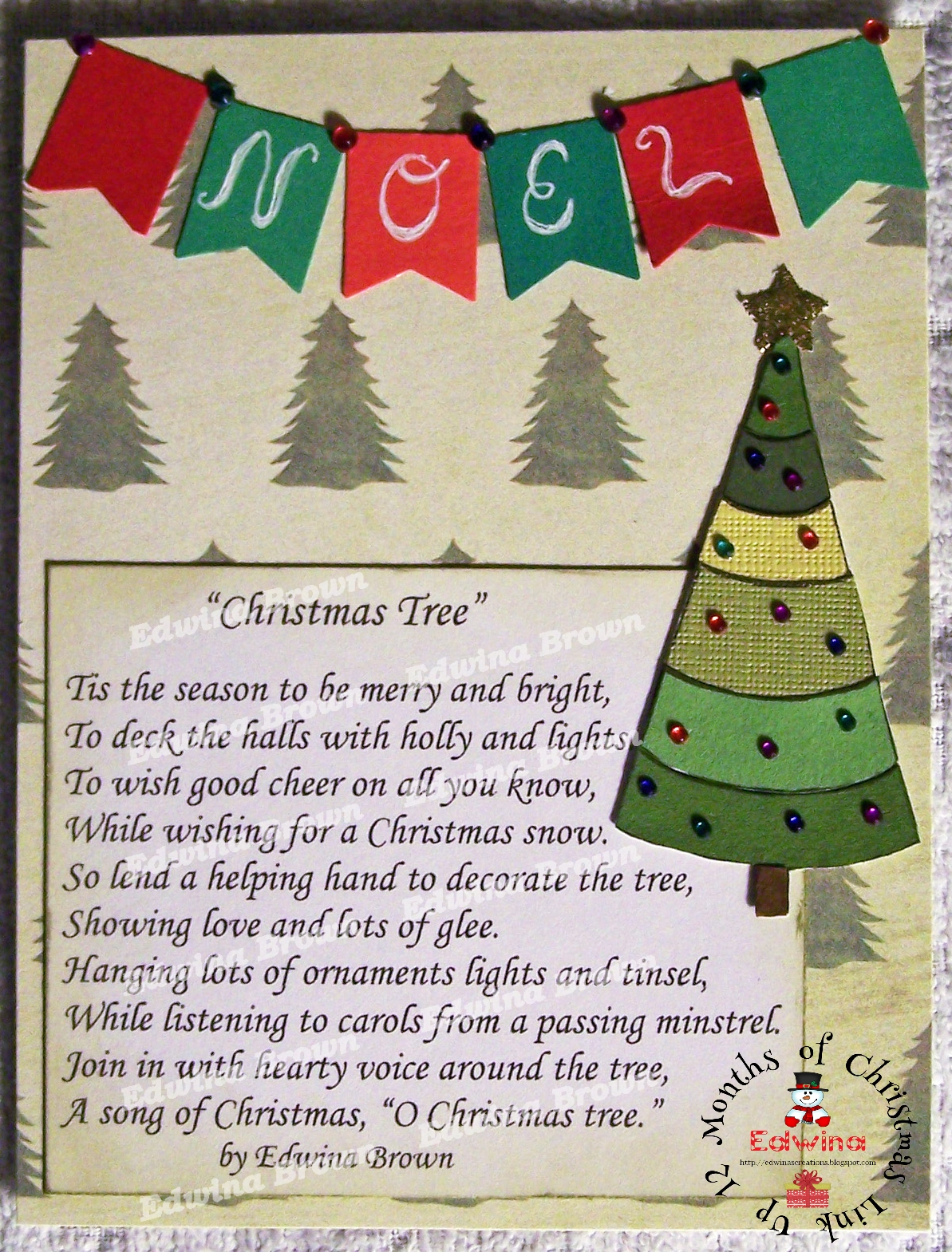 Edwina\'s Creations: 12 Months of Christmas Link Up Challenge #9 Oh ...