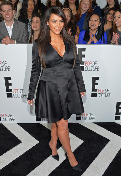Kim Kardashian attends Upfront at the E! The Grand Ballroom 2013