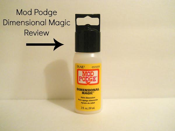 Mod Podge Dimensional Magic Review