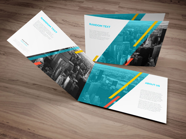 Download Gratis Mockup Majalah, Brosur, Buku, Cover - A4 Landscape PSD Brochure Mock-up Template