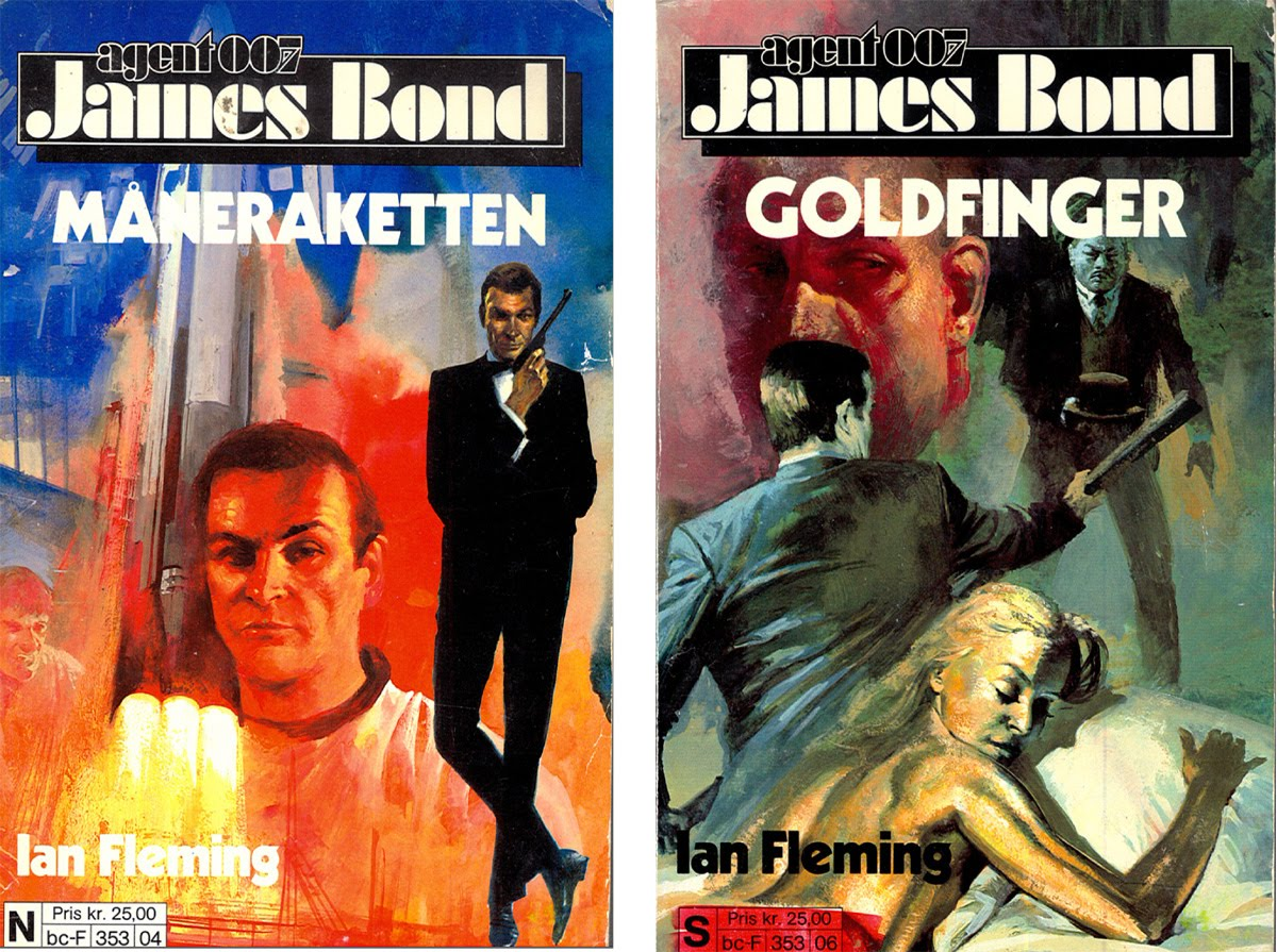 James Bond Book Cover Art ~ Illustrated the art of james bond norwegian book covers