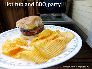June Pinterest Challenge; One of the best things about summer is burgers grilled on the barbecue. Night Sea 90.