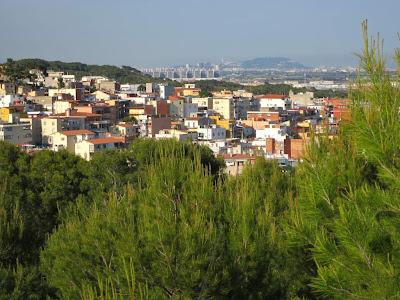 Montjuïc from Castelldefels