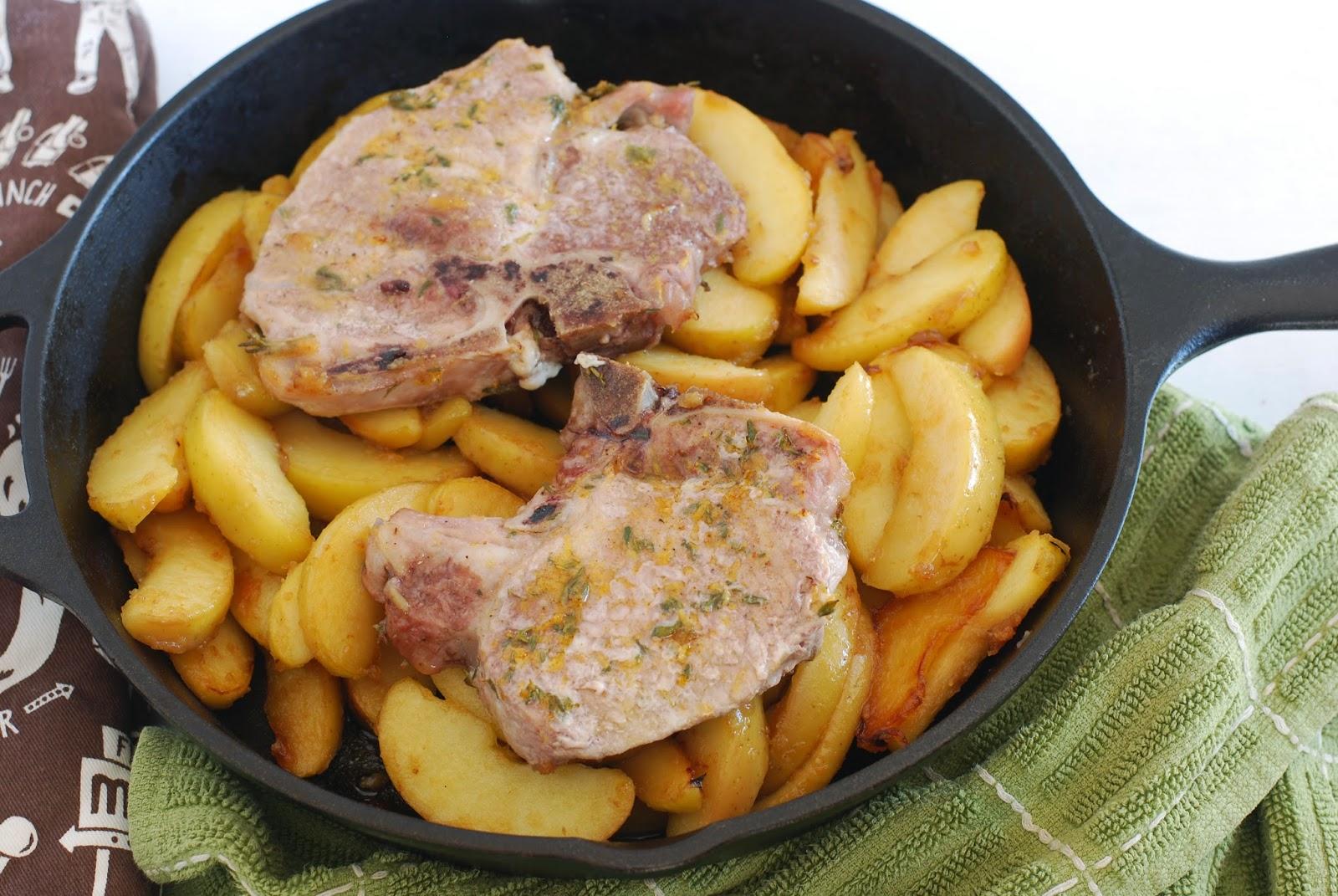 1 skillet pork chops and apples