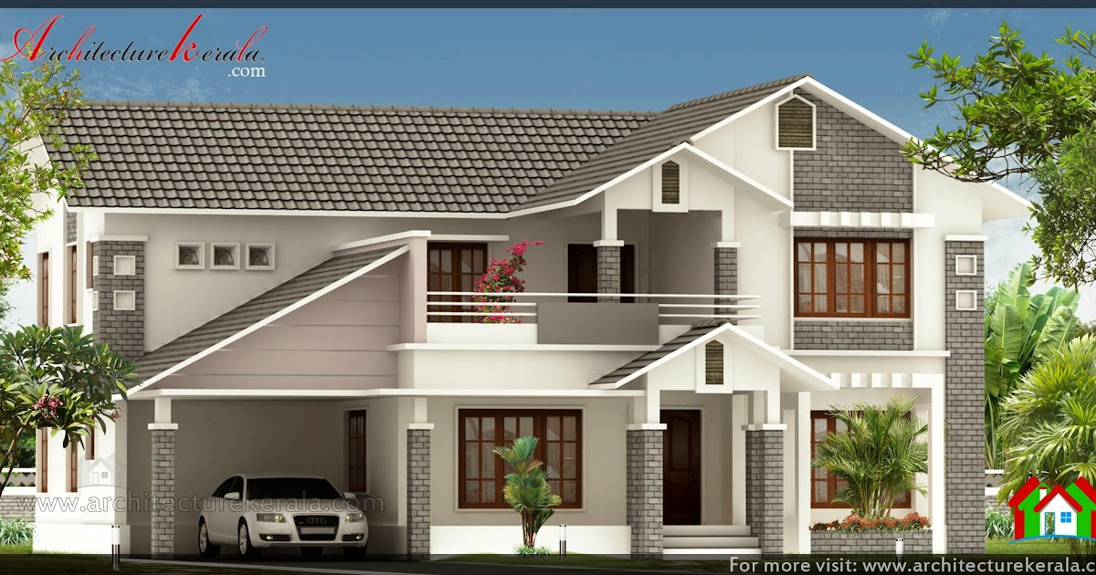 Full slope roof house design architecture kerala for Sloping home designs