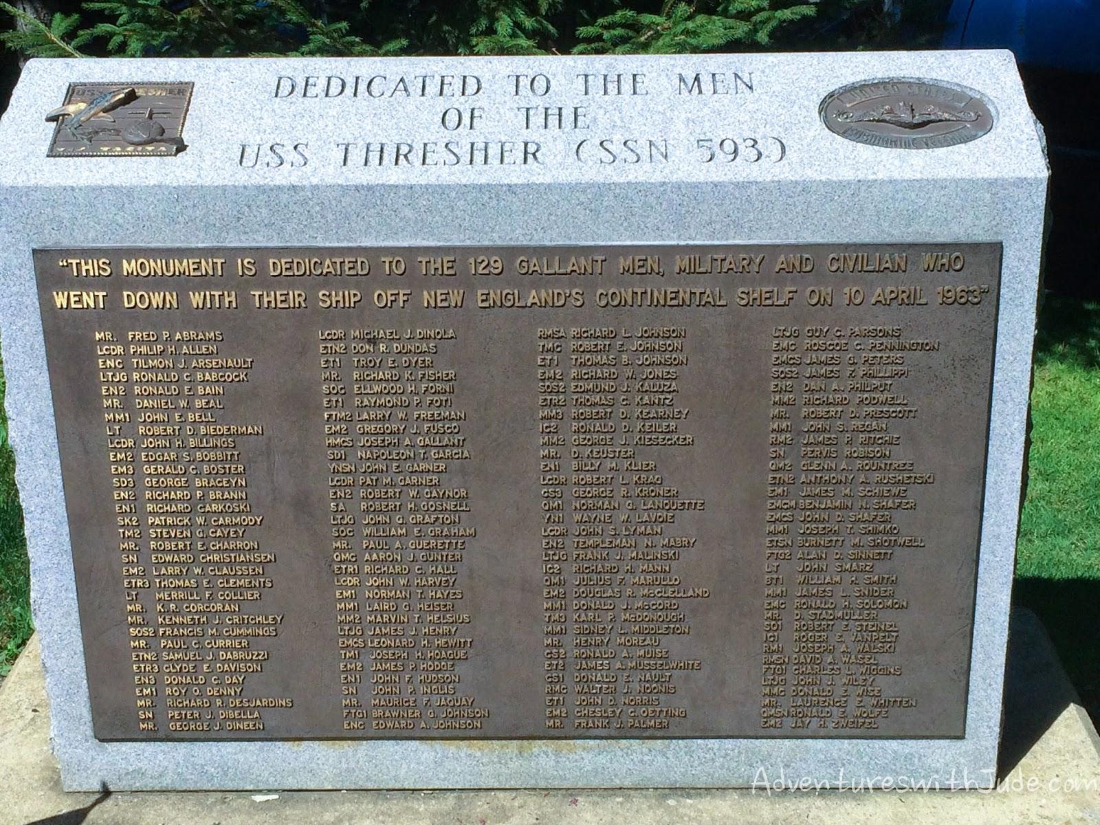 uss thresher memorial