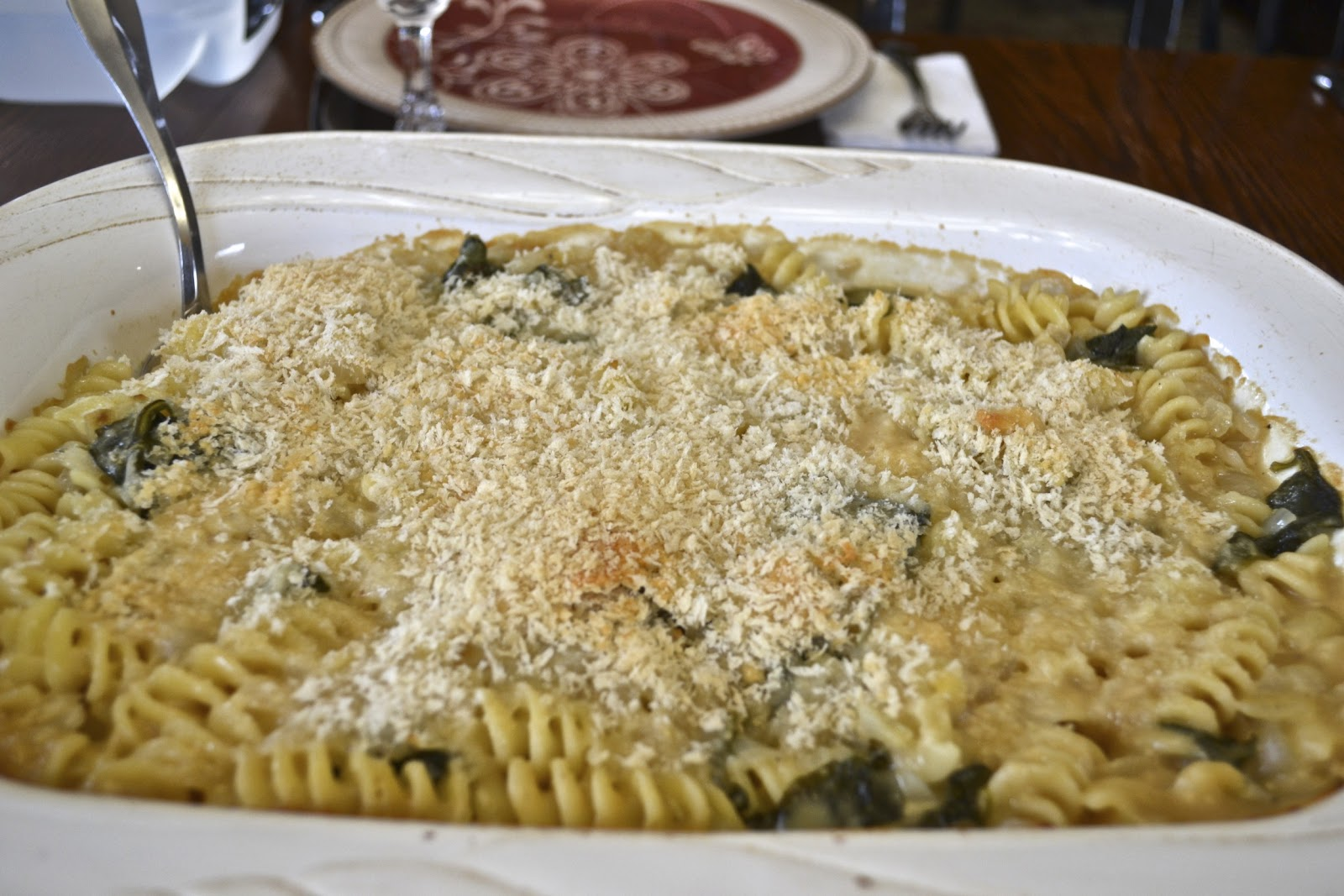 "Point-less"" Meals: Baked Pasta with Spinach, Lemon, and Cheese"