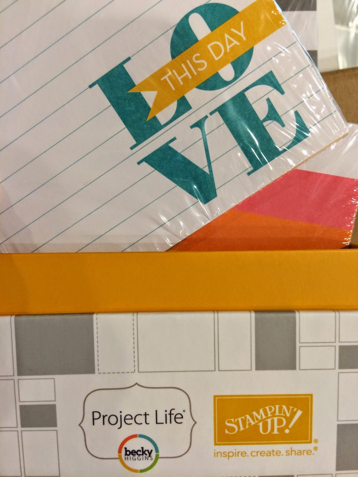 Project Life & Stampin' Up!