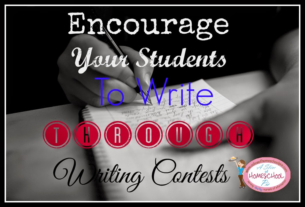 List of Writing Contests for Students by ASliceOfHomeschoolPie.com